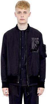 Alexandre Plokhov Somber Wool Blend Bomber Jacket