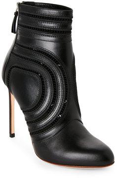Francesco Russo Black High Heel Lace Booties