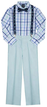 Izod Green Plaid Vineyard Suspender Pants Set - Toddler