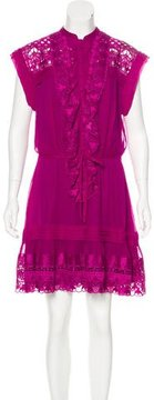 ALICE by Temperley Embroidered Silk Dress