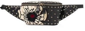 Valentino Garavani Spike It Appliquéd Studded Leather Belt Bag - Black