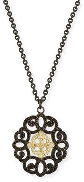 Armenta Old World Filigree Pendant Necklace with Diamonds & Black Sapphires