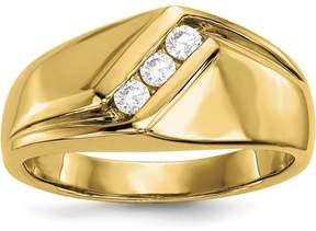 Ice 14k Yellow Gold Diamond Men's Ring
