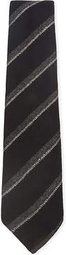 Drakes Double stripe brushed wool tie