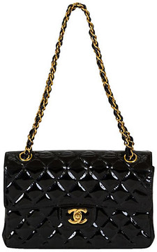 One Kings Lane Vintage Chanel Double-Sided Patent Flap Bag - Vintage Lux