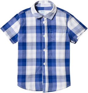 Mayoral Blue Check Short Sleeve Shirt