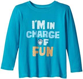 Life is Good I'm In Charge Of Fun Long Sleeve Crusher Tee Boy's T Shirt