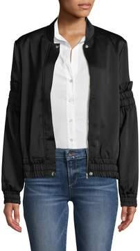 C/Meo COLLECTIVE Women's Satin Bomber Jacket