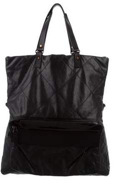 Lanvin Quilted Fold-Over Satchel