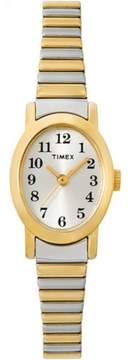Timex T2M5709J Stainless Steel Womens Cavatina Two Tone Expansion Band Watch