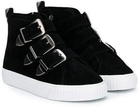 Burberry suede buckled sneaker