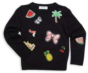 Milly Minis Toddler's, Little Girl's& Girl's Patch Pullover