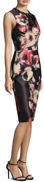 Theia Women's Floral Jacquard Dress