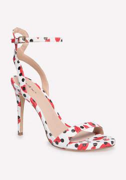 Bebe Rosa Faux Snake Sandals