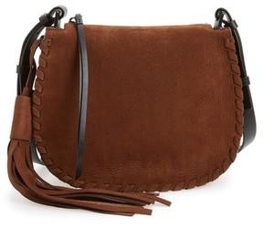 AllSaints Mori Suede Crossbody Bag - Brown