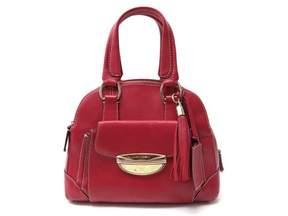 Lancel Adjani Red Leather Handbag