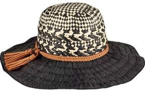 San Diego Hat Company Women's Mixed Paper Crown Ribbon Sun Brim Hat Rbl4791.