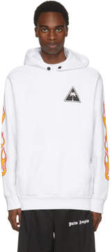 Palm Angels White Palms and Flames Hoodie