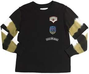 John Galliano Cotton Jersey & Knitted Cotton T-Shirt