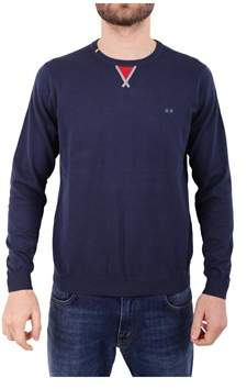 Sun 68 Men's Blue Cotton Sweatshirt.