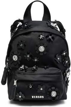 Versace Floral-Appliquéd Shell Backpack