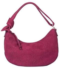 Borbonese Women's Purple Leather Shoulder Bag.
