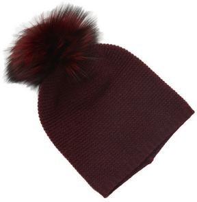 Portolano Women's Cashmere Fox Fur Hat