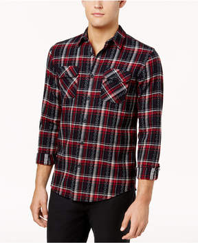 American Rag Men's Ayden Geometric Plaid Shirt, Created for Macy's