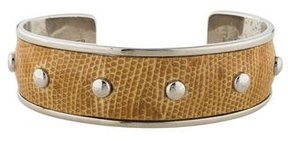 Tod's Leather Studded Cuff Bracelet