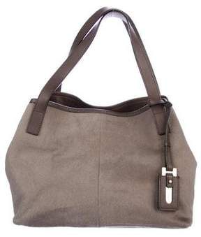 Max Mara Leather-Trimmed Ponyhair Bag