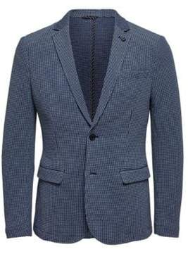 Selected Textured Two-Button Jacket