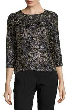 Alex Evenings Three-Quarter Sleeve Top