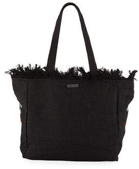 Sam Edelman Saffire Embroidered Canvas Tote Bag