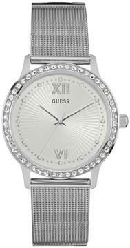 GUESS Silver-Tone Elegant Mesh Watch