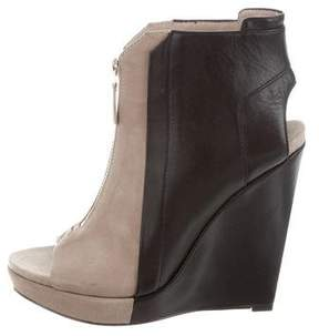 Derek Lam 10 Crosby Peep-Toe Wedge Ankle Boots