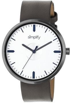 Simplify The 4500 Collection SIM4504 Gunmetal Analog Watch
