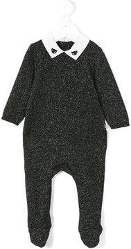 Karl Lagerfeld cat embroidered collar pyjama