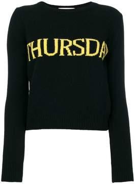 Alberta Ferretti Thursday intarsia sweater