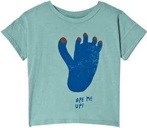 Bobo Choses Beryl Green Footprint Short Sleeve T-Shirt