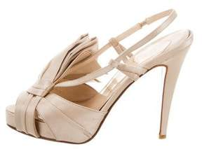 Christian Louboutin Satin Bow-Accented Sandals