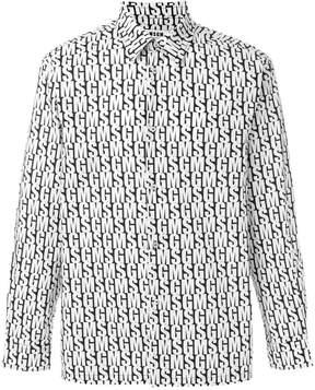 MSGM long sleeve branded shirt