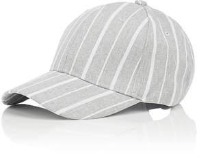 Barneys New York WOMEN'S STRIPED PLAIN-WEAVE BASEBALL CAP