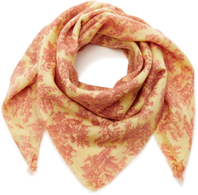 The Elder Statesman Printed Pashmina Cashmere Handkerchief Scarf