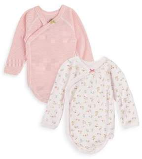 Petit Bateau Baby's Two-Piece Cotton Bodysuit Set
