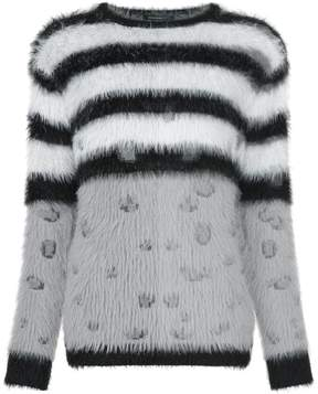GUILD PRIME striped fluffy jumper