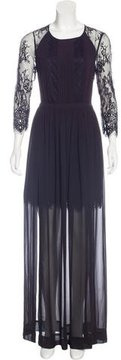 ALICE by Temperley Lace-Accented Evening Dress