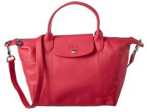 Longchamp Le Pliage Cuir Small Leather Top Handle. - PINK - STYLE