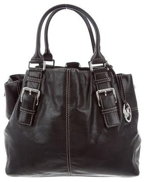 MICHAEL Michael Kors Leather Tote - BLACK - STYLE