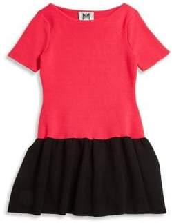 Milly Minis Girl's Colorblock Flounce Dress