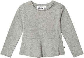 Molo Grey Melange Rosalind Long Sleeve T-Shirt